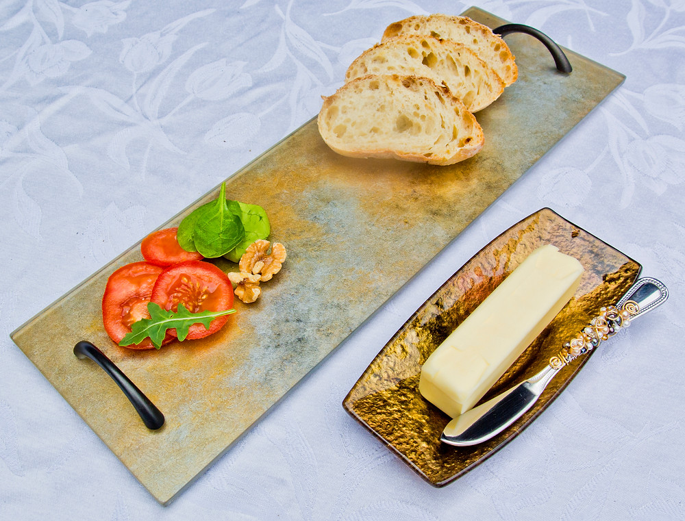 serving tray and butter dish
