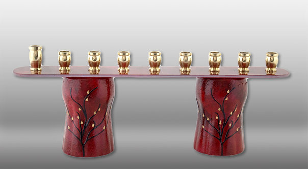red velvet tall menorah