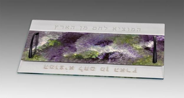 Lavender field challah tray