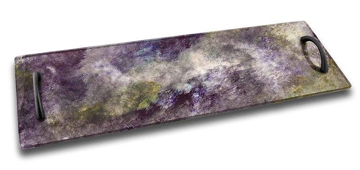 Long Serving Tray - Lavender Purple Green