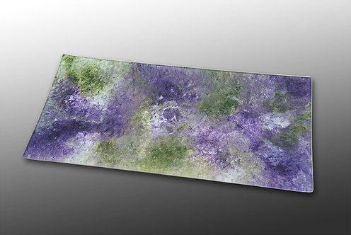 purple lavendar glass painted rectangular platter