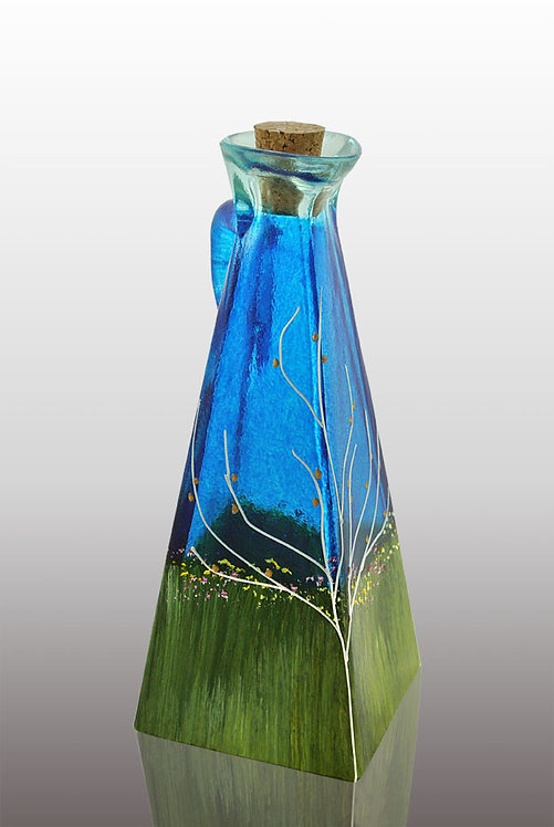 Large Oil or Vinegar Cruet - Sapphire Sky