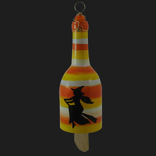 Recycled Wind Chime Candy Corn Witch