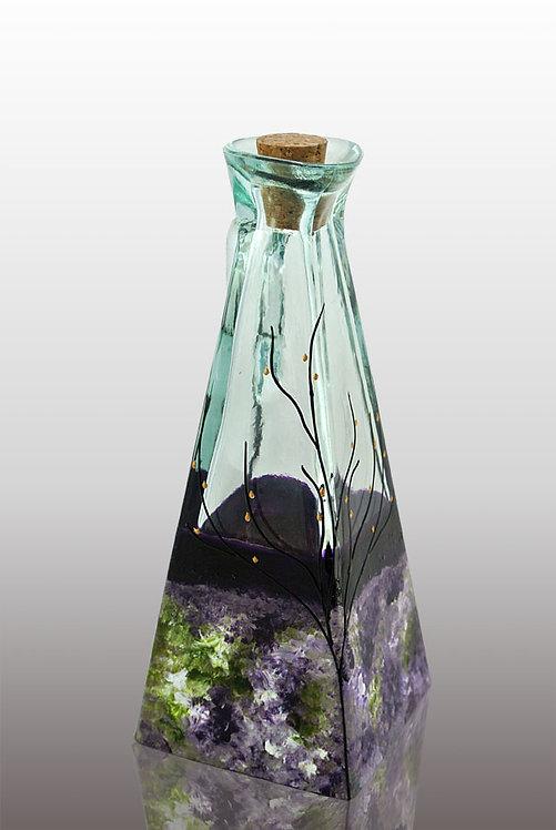 Large Oil or Vinegar Cruet - Lavender Field