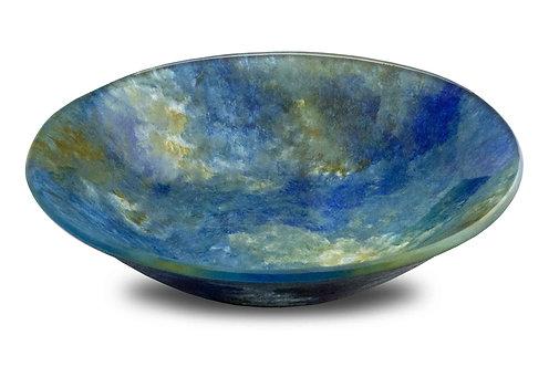 6 inch Round Dip Bowl Blue Green Tone