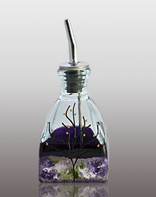 Small Oil or Vinegar Cruet - Lavender Field