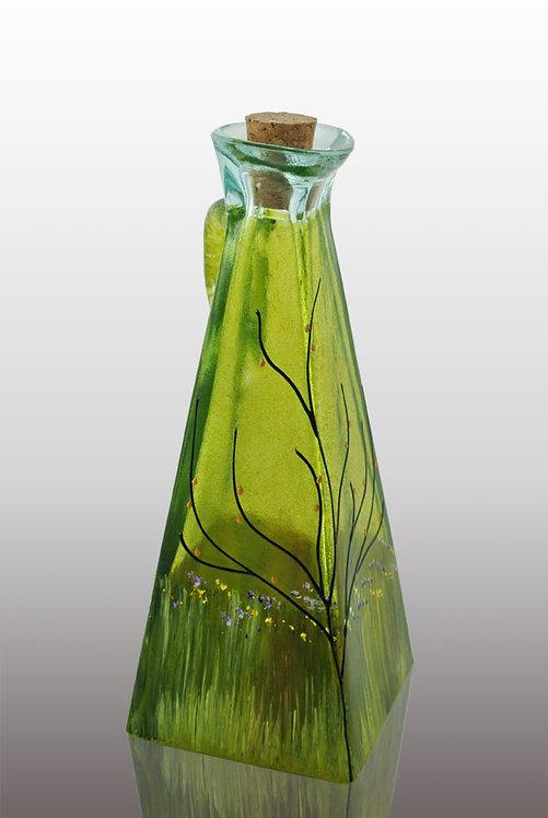 Lemon lime large oil cruet