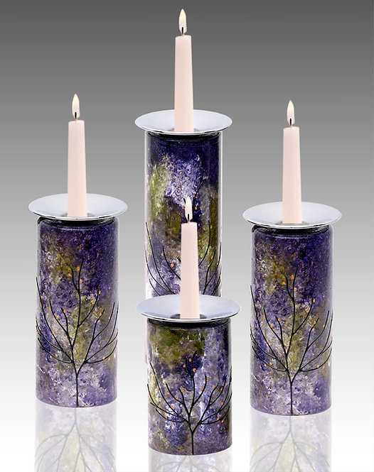 Candle Holders - Lavender Field