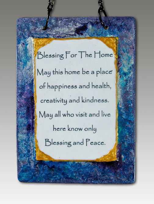 majestic blue and silver small home blessing
