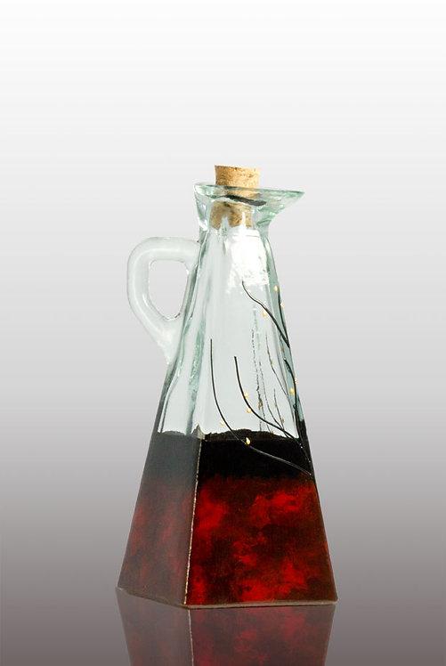 Large red velvet oil cruet