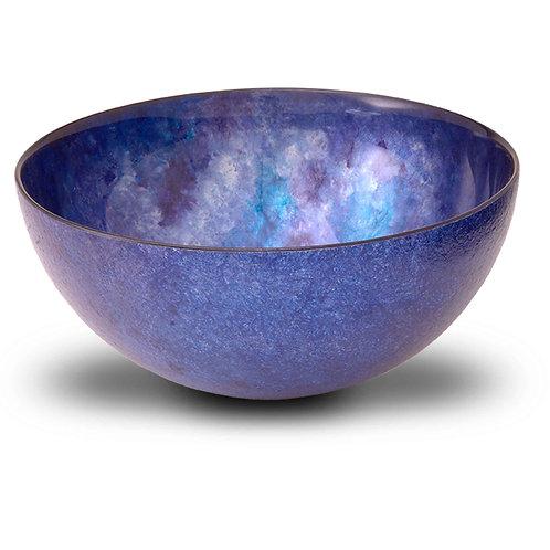 8 inch Large Serving Bowl Purple Blue Tones
