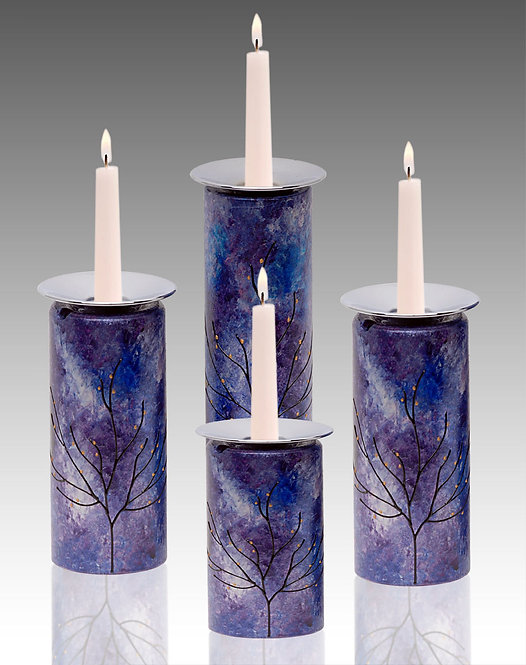 majestic candle holders four