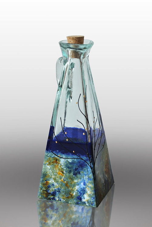 Large Oil or Vinegar Cruet - Ocean Breeze