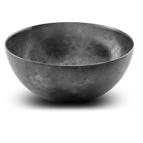 Modern 8 inch Large Salad Bowl Black Gray Tones