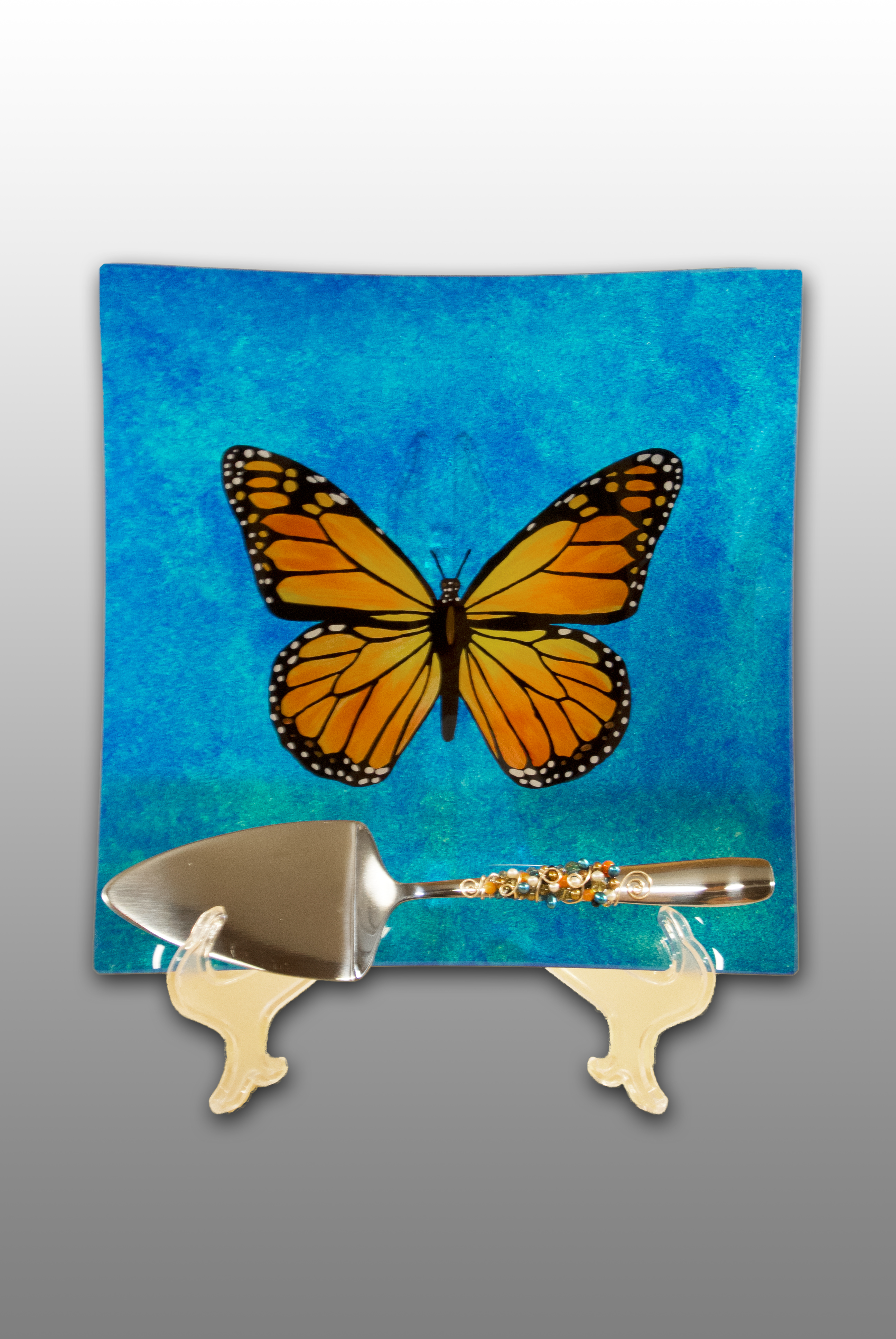 Butterfly Plate and Cake Server