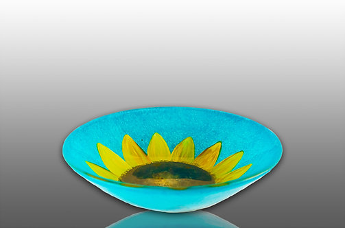 Small Wide Bowl - Sunflower