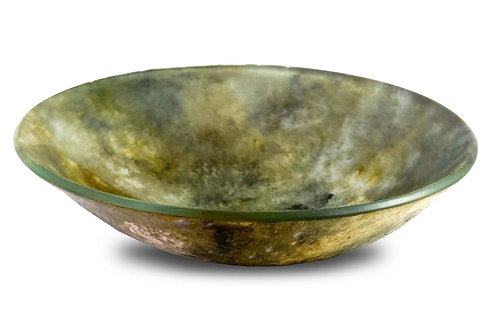 6 inch Round Dip Bowl Green Tone