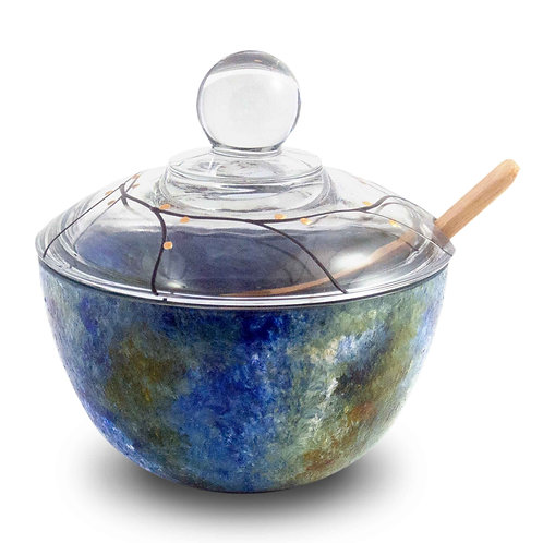 Lidded Bowl - Ocean Breeze