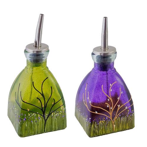 Oil or Vinegar Cruet In Array of Lush Garden Colors