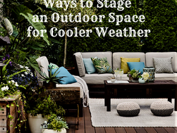 Ways to Stage an Outdoor Space for Cooler Weather