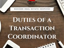 Duties of a Transaction Coordinator