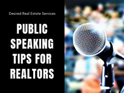 Public Speaking Tips for Realtors