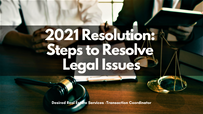2021 Resolution: Steps to Resolve Legal Issues