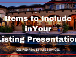 Items to Include in Your Listing Presentation