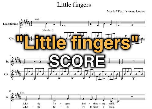 """""""Little fingers"""" Score - Yvonne Louise"""