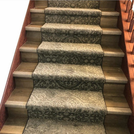 Carpet Runner on Wood Stairs