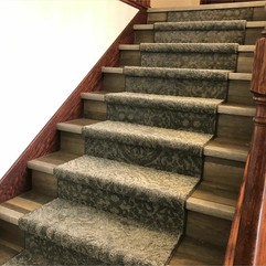 Wooden Stair Case with Carpet Runner