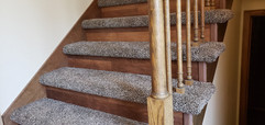 Hybrid Stairs with carpet and vinyl plank