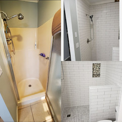 Before and After CeramicTile Shower