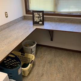 Forbo marmoleum floor and countertop