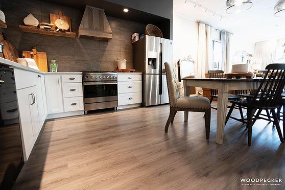 Woodpecker Brecon Vinyl Plank in Kitchen
