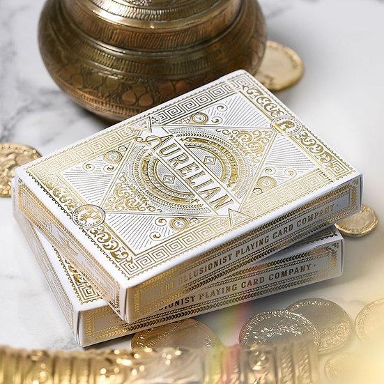 *White Aurelian Playing Cards