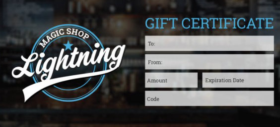 Lightning Magic Shop Gift Card