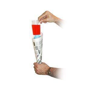 *Comedy Glass in Paper Cone by Bazar De Magia