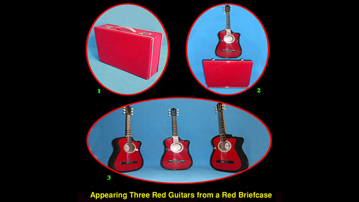 Appearing Guitars from Briefcase (3/Red) by Black Magic