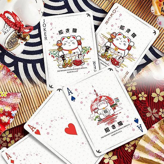 Bicycle - Maneki Neko Playing Cards - Red