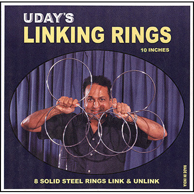 10 inch Linking Rings (8) by Uday