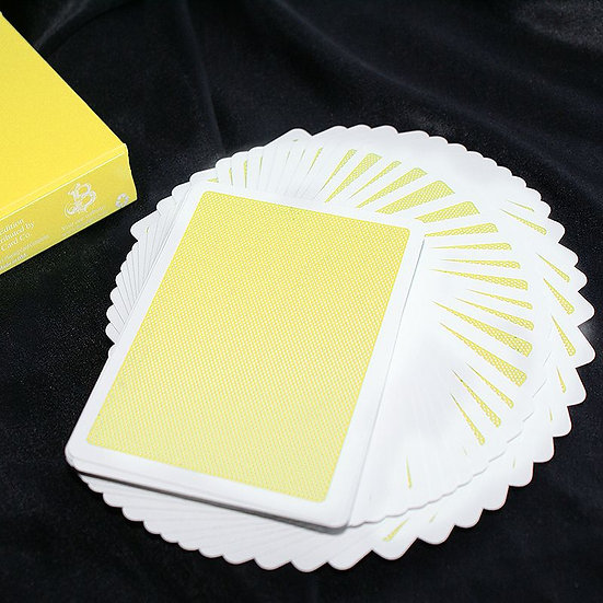 *Steel Playing Cards - Yellow