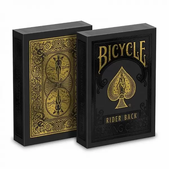 *Bicycle - Black and Gold Rider Back Playing Cards