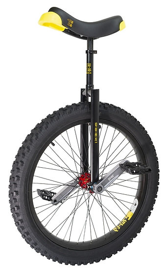 "*Qu-Ax 24"" Muni Starter Trials Unicycle - Off-Road Freestyle Model - Black"