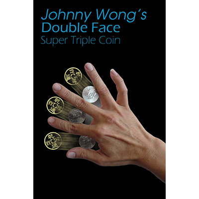 Double Face Super Triple Coin (with DVD) by Johnny Wong