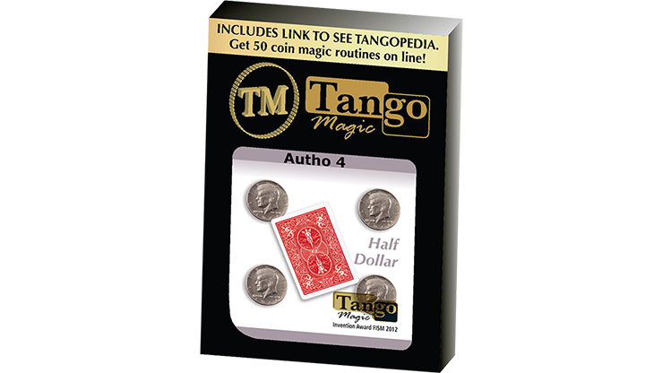 Autho 4 Half Dollar (D0178) (Gimmicks and Online Instructions) by Tango