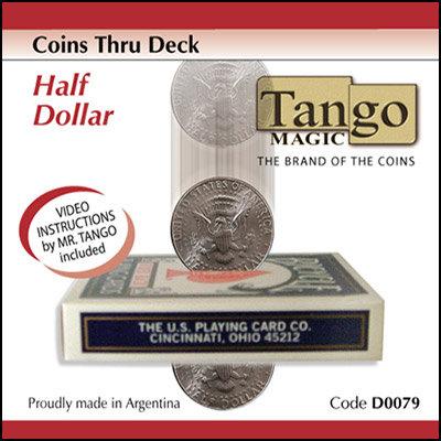 Coins Thru Deck Half Dollar by Tango (D0079)