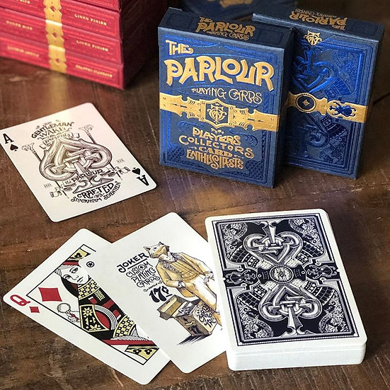 *Parlour Playing Cards - Blue