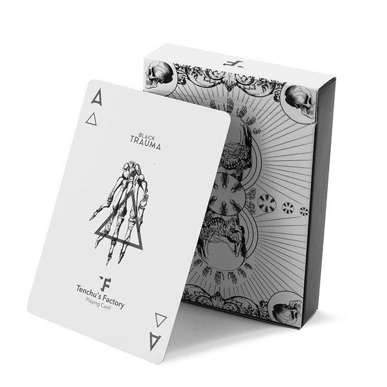 *Trauma White Playing Cards