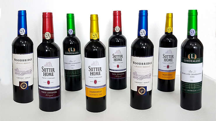 Multiplying Wine Bottles (8/COLOR) by Tora Magic